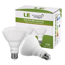 recessed can light bulbs le 15w dimmable br30 e26 led bulbs 100w incandescent equivalent