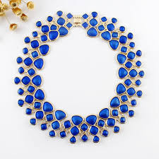 bib necklace designs images Wholesale fashion designer jewelry blue enamel bubble bib jpg