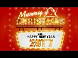 merry happy new year 2017 card