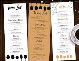 wedding drink menu template drink menu template word endo re enhance dental co