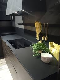Modern Kitchen Tools by Black Kitchen Countertops Light Gray Cabinets Black Counters And