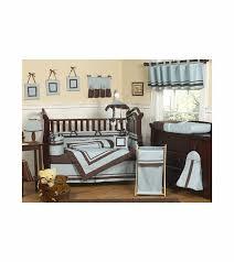 Blue Crib Bedding Set Sweet Jojo Designs Hotel Blue Brown 9 Crib Bedding Set