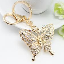 fashion key rings images Rhinestone butterfly keychains for key keyrings fashion crystal jpg