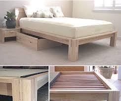 crown mission natural cherry wood platform bed frame high in