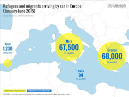 Italy Greece Map by Unhcr Tracks The Sea Route To Europe