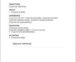 Free Basic Resume Template Resume Basic Formatbasic Resume Format Simple Resume Layout