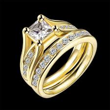 gold wedding rings for junxin geometric design yellow gold color wedding ring