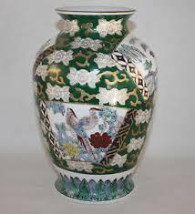 Hand Painted Vase Vintage Gold Imari Japan Hand Painted Birds Large Vase Ebay