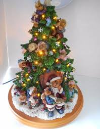 boyds bears tree danbury mint collection lights up santa