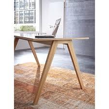pied de bureau bois bureau avec plateau en bois et pieds chêne massif