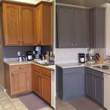 how to paint oak cabinets grey updating oak kitchen cabinets before and after 11