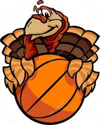 thanksgiving cartoon pictures basketball happy thanksgiving holiday turkey cartoon vector illu