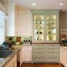 Kitchen Cabinets Michigan Glass Front Kitchen Cabinets With X Trim Moldings Transitional