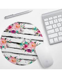 bargains on pink floral mouse pad mousepad pink girly Floral Desk Accessories