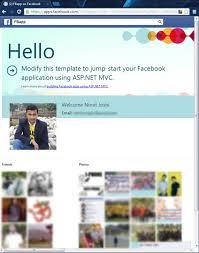 creating facebook template in visual studio 2013 preview