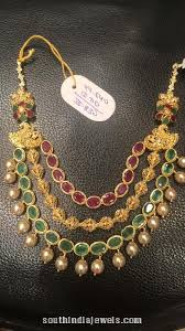 emerald gold necklace images 22k gold ruby emerald necklace from psj indian jewelry jpg