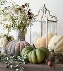 Pottery Barn Fall Decor - pottery barn recycled glass pumpkin candle cloches fall decor