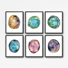 Bedroom Wall Decor Sets Geode Print Agate Slice Print Set Of 6 Bedroom Wall Decor