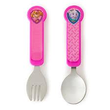 paw patrol fork u0026 spoon pink