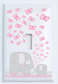 Pink Elephant Light Switch Plate Covers Single Toggle Elephant
