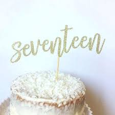 cake figurines birthday cake figurines topper seventeen glitter like this item