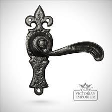 Lever Door Handles Iron Handcrafted Ornate Lever Door Handle Style 2