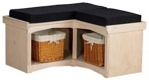 Wicker Storage Bench Minimalist Entry Room With Maple Corner Cubby Storage Benches And