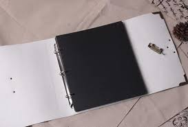 Leather Wedding Guest Book White Leather Lock Photo Album Scrapbook Album Wedding Photo