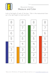 measurement worksheets for prek 72 best kindergarten math
