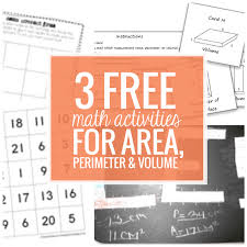3 free math activities for area perimeter volume teach junkie