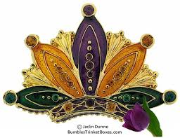 mardi gras crown trinket box mardi gras crowntrinket box