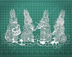 gifts and home decor easter bunnies papercut art 11