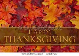happy thanksgiving greeting some fall leaves stock photo 520287577