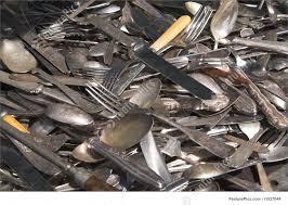 kitchen antique silverware stock image i1827044 at featurepics