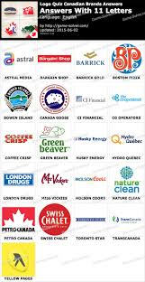 Business Letter Quiz With Answers Logo Quiz Canadian Brands With 11 Letters Solver