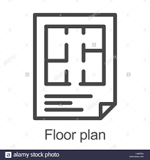Floor Plan Flat by Flat Floor Plan Icon Stock Vector Art U0026 Illustration Vector Image