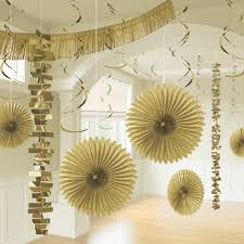 gold party decorations x gold hanging paper party decorations golden room paperhanging