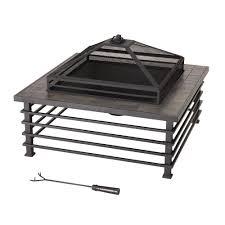 Slate Firepit Sunjoy Dane 34 In Steel Pit 110501005 The Home Depot