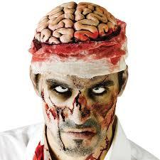 zombie halloween costume amazon com zombie brains gruesome halloween headwear mental