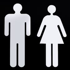 Man Woman Bathroom Symbol Xin Man Woman Toilet Signage Wc Decals Toilet Sign 3d Sticker