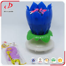 birthday candle flower china 12 colors birthday songs candle with gift box flower