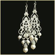 Pearl Chandelier Light Gold Chandelier Earrings Wedding Home Design Ideas