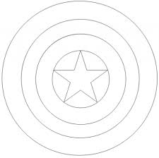 captain america shield coloring pages printable creativemove