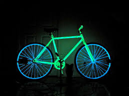 black light spray paint how to make your bike glow in the dark for safer night riding