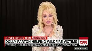 dolly parton sets up fund for tennessee fire victims cnn