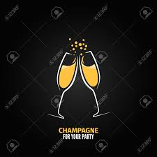 champagne glass champagne glass design party menu background royalty free cliparts