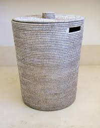 Canvas Laundry Hamper by White Washed Rattan Laundry Hamper With Lid Baskets Boxes Etc