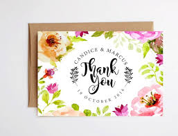 thank you cards printable floral thank you cards instant