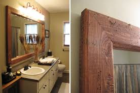 large framed bathroom mirrors and wood natural wall mirror in wood framed wall mirrors ideas