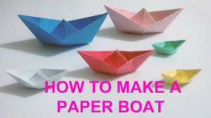 how to make a simple paper boat paper craft boat youtube